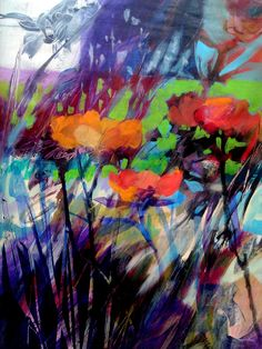 """'POPPIES"""" ACRYLIC ON CANVAS BY RON GORDON"""