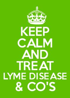 KEEP CALM AND TREAT LYME DISEASE