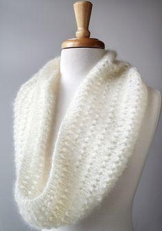 Snood Knitting Pattern Genevieve Cowl Neckwarmer by AtelierTPK, $6.50