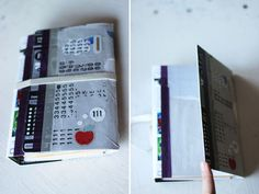 DIY Cardboard Binder w/ collage TUTORIAL