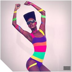 #Fitspiration // Grace Jones showing us how its done #colourblocking…
