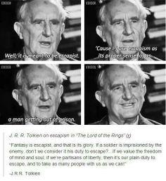 J.R.R. Tolkien on escapism