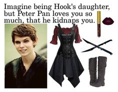 """Peter Pan Imagine"" by book-girl-4 ❤ liked on Polyvore featuring Once Upon a Time, Fergalicious, imagine, peterpan and ouat"