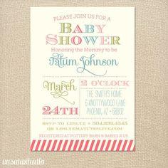 Spring Fling Bridal Shower Invitation Baby Shower by casalastudio, $15.00