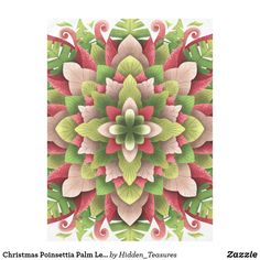 Christmas Poinsettia Palm Leaves Mandala Tablecloth Christmas Mandala, Christmas Poinsettia, The Perfect Touch, Holiday Cards, Color Pop, Palm, Kids Rugs, Create