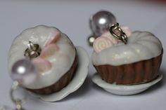 orecchini ceramica e polyclay