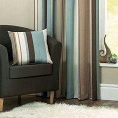 Dreams N Drapes Whitworth Stripe Cushion Cover Duck Egg Blue
