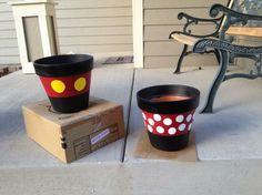Mickey & Minnie Flower Pots