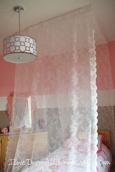 (I) (L)ove (D)oing (A)ll Things Crafty!: Maia's Room Make Over - DIY Canopy Bed - Part 5