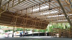 asali bali engineers bamboo structure capable of covering 545m2