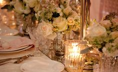 white and blush flower centerpieces #wedding #decor - Cathy Martin Flowers