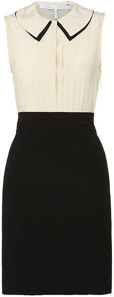 VICTORIA BECKHAM Shadow Collar Dress - Lyst