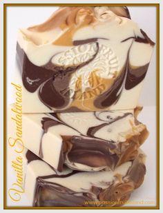 Creamy Vanilla and sandalwood soap