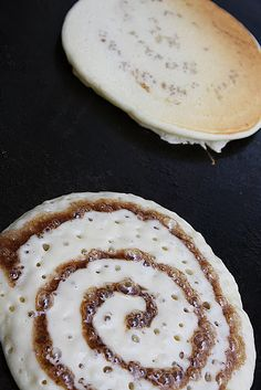 Cinnamon swirl pancakes - I would make these without the glaze and they'd still be amazing & super easy!!