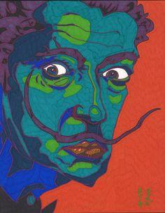 pop art portraits | sharpie on bristol... Dali