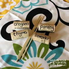 Easy Wine Cork Garden Markers {@Wait 'Til Your Father Gets Home {Meredith Hazel}} Look @Morgan Nelson