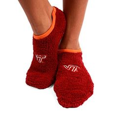 NCAA Virgina Tech Hokies Foot-Z-Sox Slipper Socks, One Si...