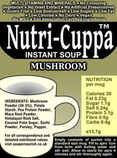 Nutri-Cuppa Mushroom