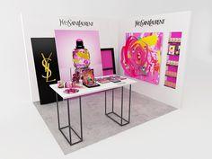 Design-retail-Podium yves saint laurent-Paris Premieres Roses-Que Houxo-By Leonard El Zein-02
