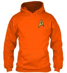 Welcome Trekkies Safety Orange T-Shirt Front