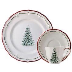 Gien Filets Noel Dinnerware |