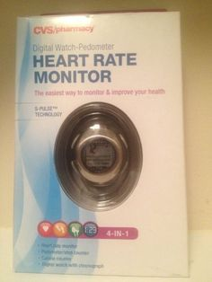 CVS 4in1 Heart Rate Monitor Pedometer Calorie Counter Chronographer  Large * Visit the image link more details.