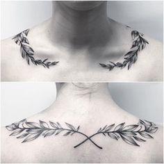 Laurel Wreathe 🌿 for Lil Lion Hearted ✨ Laurel Wreathe 🌿 for Lil Lion Hearted ✨ Altgriechisches Tattoo, Tattoo Band, Herz Tattoo, Bone Tattoos, Body Art Tattoos, Sleeve Tattoos, Laurel Tattoo, Laurel Wreath Tattoo, Octopus Tattoo Design