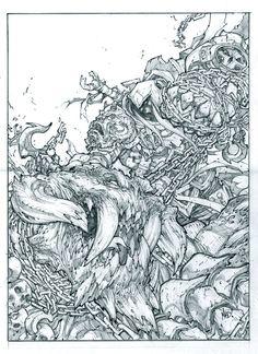 Darksiders Comic Promo Pencils By Joe Madureira