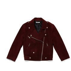 Rebecca Minkoff Wes Moto Jacket (3.990 DKK) ❤ liked on Polyvore featuring outerwear, jackets, rebecca minkoff, red biker jacket, biker jacket, red suede jacket and suede motorcycle jacket