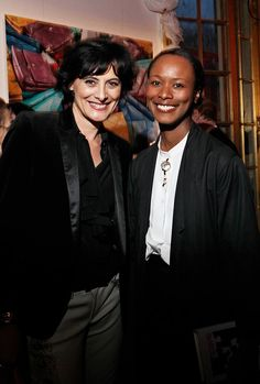 Inès de la Fressange and Shala Monroque