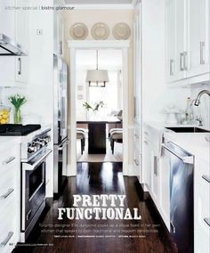 Small kitchen idea 11. White cupboards and yellow wall
