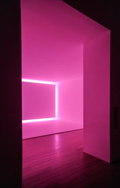 Pink work from American artist James Turrell. François Morellet, Look Wallpaper, New Retro Wave, James Turrell, Neon Aesthetic, Light And Space, Everything Pink, Pink Walls, Neon Lighting