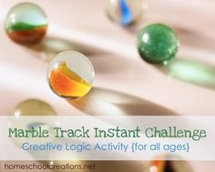 Marble Track Instant Challenge logic activity- I like this activity. It involves problem solving. There is not one right answer. It can be changed up to accommodate a variety of grade levels and abilities. Problem Solving Activities, Stem Activities, Activities For Kids, Kids Math, Destination Imagination Instant Challenge, Marble Tracks, Odyssey Of The Mind, Teaching Science, Science Fun