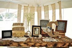 Love this DIY wedding table: http://www.countryoutfitter.com/style/real-country-wedding-courtny-cordosa/