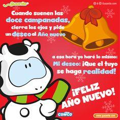 Cuando suenen las doce campanadas, | Postales y tarjetas de Cowco, Año Nuevo, ano nuevo, ano_nuevo, tarjetas_fijas, días festivos, dias_festivos, | Gusanito.com