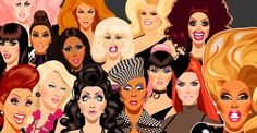 Chad Sells illustrates the queens of RuPaul's Drag Race season 6: http://logo.to/N6Scu1