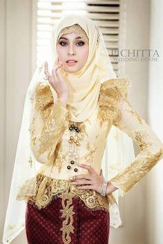Thai actress in Thai - Muslim wedding dress #PerfectMuslimWedding.com