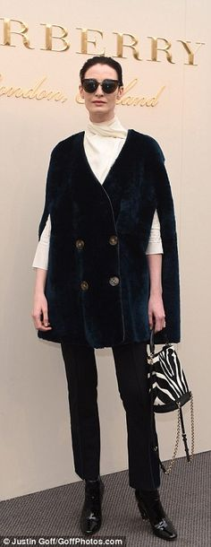 They're in vogue:Erin O'Connor and Lily Donaldson also sported new designs by Burberry's ...