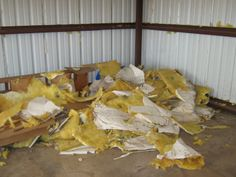 """Are  you """"itching"""" to get rid of the old, moldy insulation in your shop. Give us a call. We can help! GSD Junk Hauling 256.735.9494"""