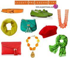 Farby akcentov pre jesenné typy - Supervizáž