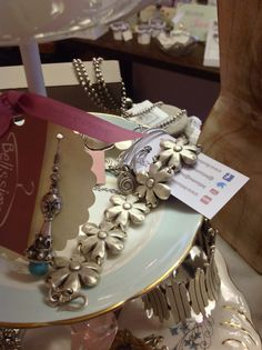 Flower silver plated hypoallergenic necklace £29 bracelet to match £15