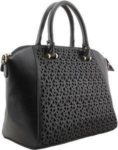 Color Negra Tote Handbags Leather Shoulder Bag Handle Zipper Local Deals