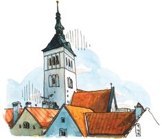 The beauty and grit of Tallinn | Urban Sketchers