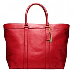 BLEECKER LEGACY LEATHER WEEKEND TOTE #coach  A girl can dream , right? :)  $658.00