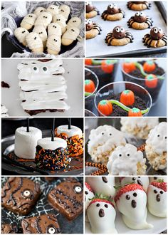 Delicious and Easy Halloween Treats for the Whole Family - Pizzazzerie Pizzazzerie - Easy Halloween Treats for School Parties Cute Halloween Recipes for Kids Halloween Treats To Make, Healthy Halloween Snacks, Halloween Food For Party, Halloween Desserts, Halloween Ideas, Halloween Decorations, Halloween Stuff, Halloween Foods, Halloween Dinner