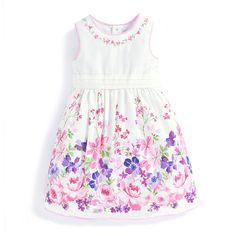 Girls' Floral Border Party Dress | JoJo Maman Bebe