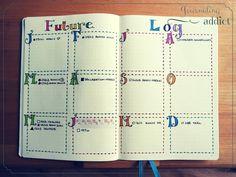Le future log #bulletjournal #bujo #bulletjournaling #planner #plannerlove #planneraddict #plannergirl #journalingaddict