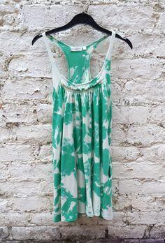 Green Tie Dye Womens Vest Top UK size 10 US size 6 Hippie Boho (19.50 GBP) by AbiDashery