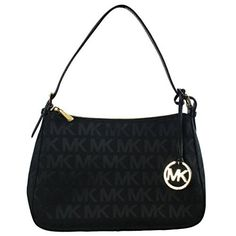 Michael Kors Small Top Zip Shoulder Bag in Black ** Find out more about the great product at the image link.Note:It is affiliate link to Amazon.