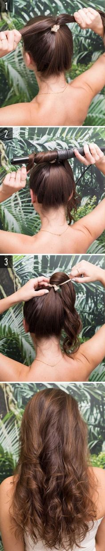 sencillo peinado ondulado